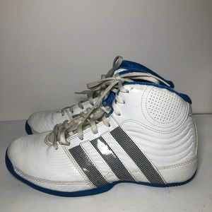 White & Blue  Adidas High Tops Shoes for Men